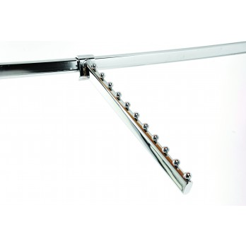 11 Ball Sloping Arm Oval Chrome
