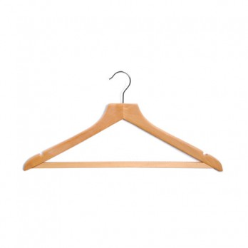 Wooden Hangers with Rubber Grip Adult