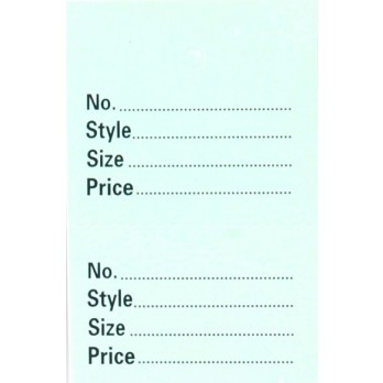 Perforated 2 Part Stock Control Tickets Without Border Green