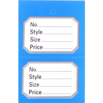 Perforated 2 Part Stock Control Tickets With Blue Border