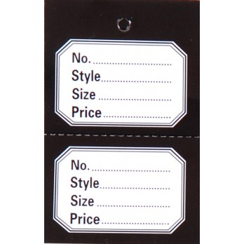 Perforated 2 Part Stock Control Tickets With Black Border