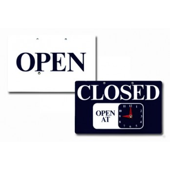 Open/Closed Double-sided Signs