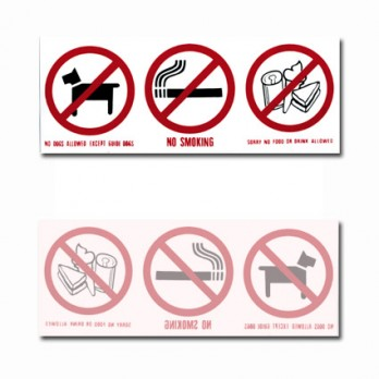 3 in 1 Front Adhesive Sign