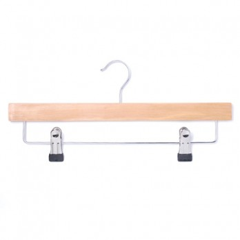 Wooden Hangers with Clips (Lotus Wood) 360mm
