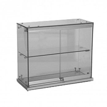 Aluminium Pearl Double Display Case 710w x 250d x 510h