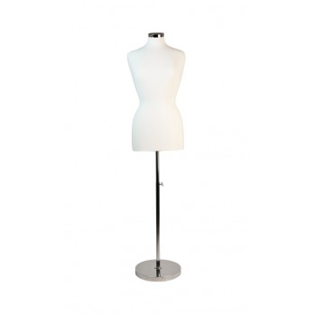 Premium Female Tailors Dummy with Heavy Duty Chrome Base