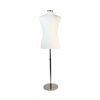 Premium Male Tailors Dummy with Heavy Duty Chrome Base