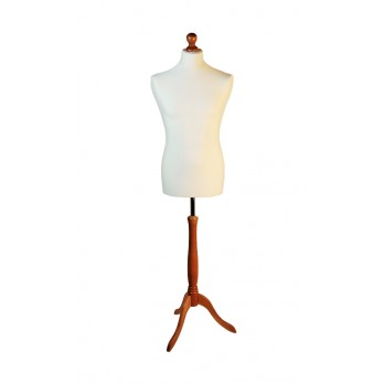 Value Male Tailors Dummy Cream/Beech Stand