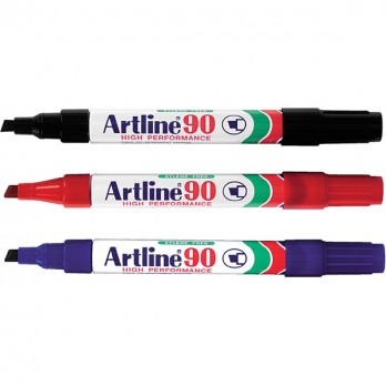 Artline 90 Chisel Tip Red
