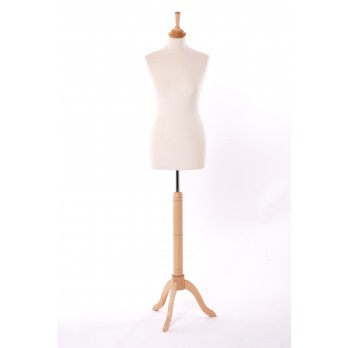 Value Female Tailors Dummy Cream/Beech Stand