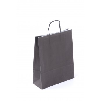Paper Carrier Bag Black 24 x 10 x 31cm (Box 200)
