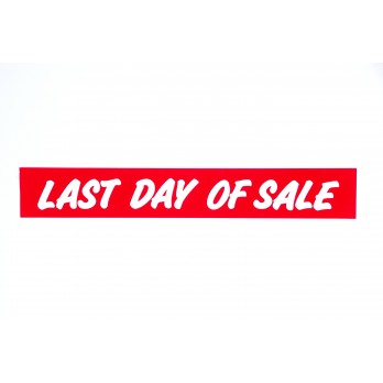Last Day Of Sale Banner