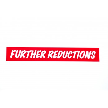 Further Reductions Banner