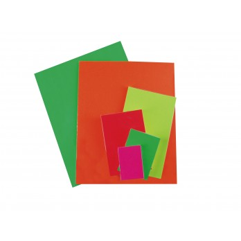 Dayglo Card 100 X 75 mm Red