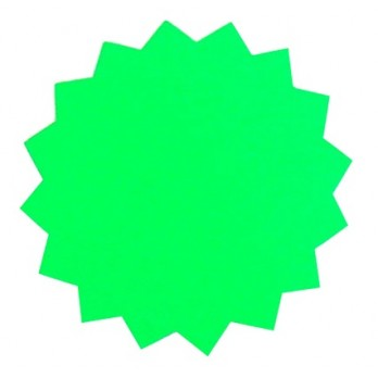 Dayglo Stars 150mm Green