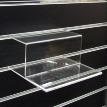 2 Tiered Stepped Shelf for Slatwall close view