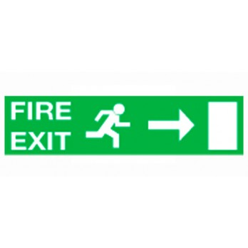 Fire Exit with Running Man & Arrow Right image