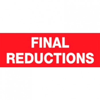 Final Reductions Poster