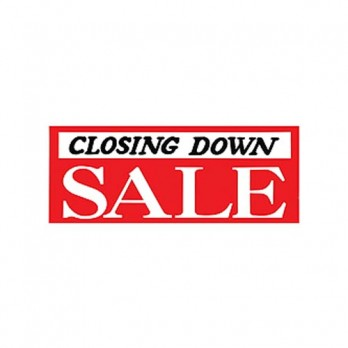 Closing Down (Black) Sale 762 x 330 Poster