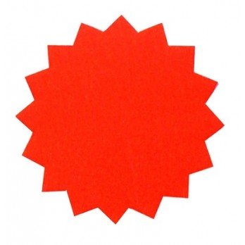 Dayglo Stars 150mm Red