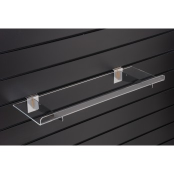 Acrylic Shelf 600 x 250mm for Slatwall