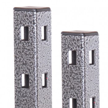 4 Way Slotted Square Tube Antique Silver