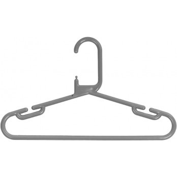 Childrens Coloured Hanger Grey(Box/150)