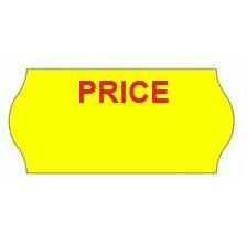 Permanent Yellow Price Labels 26 x 12mm