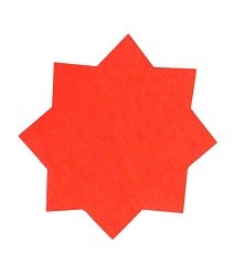 Dayglo Stars 60mm Red