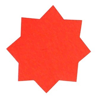 Dayglo Stars 75mm Red