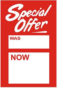 Special Offer Ticket 40 x 65mm (Pack of 100)