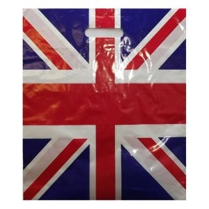 "Union Jack Carrier Bags 15"" x 18"" x 3"""