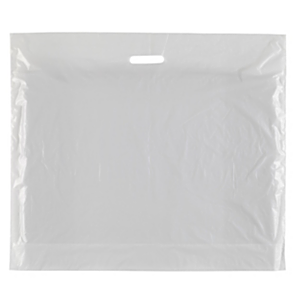 """Punch Handle Carrier Bags White 22"""" x 18"""" + 3"""""""