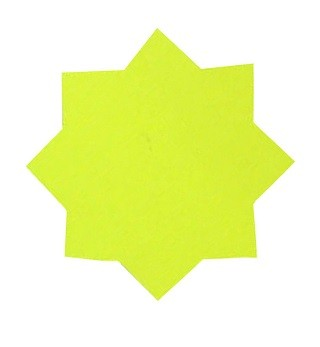 Dayglo Stars 75mm Yellow