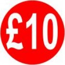 Peelable Price Labels £10