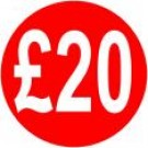 Peelable Price Labels £20