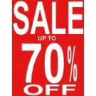Sale Up To 70% Off Poster