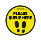 Please Queue here with symbol 400mm