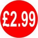Peelable Price Labels £2.99