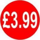 Peelable Price Labels £3.99