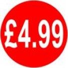 Peelable Price Labels £4.99