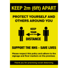 Protect yourself and others around you self adhesive A4