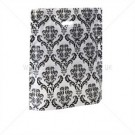 Punch Handle Carrier Bags Damask Black