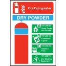 Fire Extinguisher Safety Dry Powder Sign S/A 150 x 200mm
