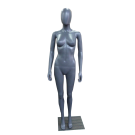 Plastic Eco-Friendly Mannequin Female in Grey color