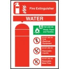 Fire Extinguisher Safety Water Sign S/A 150 x 200mm